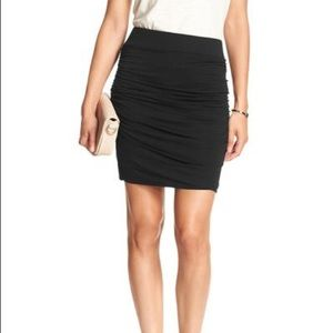 Banana Republic Black Ruged Mini Skirt